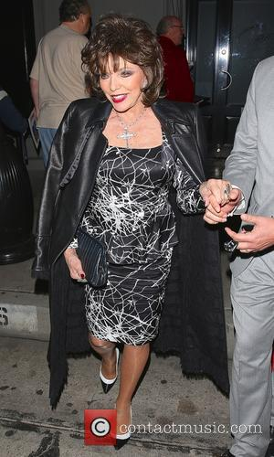 Joan Collins - Joan Collins leaves Craig's restaurant in West Hollywood - Los Angeles, California, United States - Monday 9th...