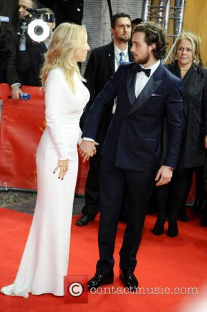 Sam Taylor-Johnson and Aaron Taylor-Johnson - Stars from the upcoming raunchy movie 'Fifty Shades of Grey' were photographed on the...