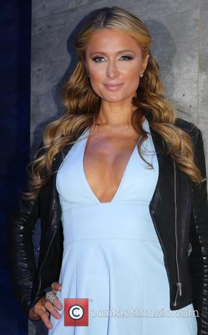 Paris Hilton - Mercedes-Benz Fashion Week Fall 2015 - Charlotte Ronson - Backstage - New York, New York, United States...