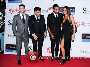 Dean Spragg, Rogan O'Connor, Yasmin di Christie and Nathanial Valentino - VIP screening of 'Fifty Shades of Grey' held at...