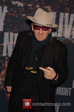 Elvis Costello - A host of stars including previous cast members were snapped as they arrived  to the Rockerfeller...