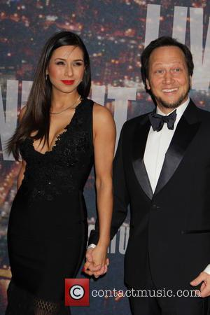 Rob Schneider and Patricia Azarcoya Srce - A host of stars including previous cast members were snapped as they arrived...