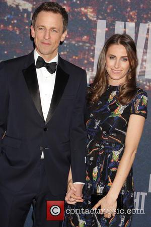 Seth Myers and Alexi Ashe - A host of stars including previous cast members were snapped as they arrived...