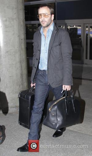 Tom Ford - Fashion designer Tom Ford arrives at Los Angeles International Airport (LAX) - Los Angeles, California, United States...