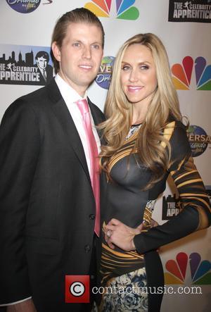 Erick Trump and Lara Yunaska - The Celebrity Apprentice Finale held at Trump Tower - Arrivals at Trump Tower -...