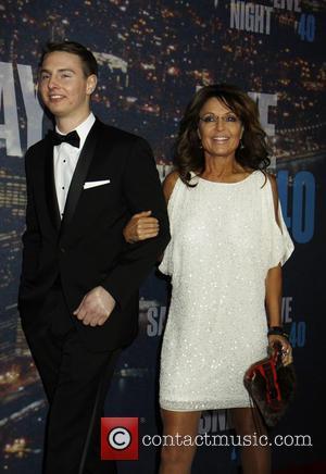 Sarah Palin and son - Saturday Night Live 40th Anniversary - Arrivals at Saturday Night Live - New York, New...