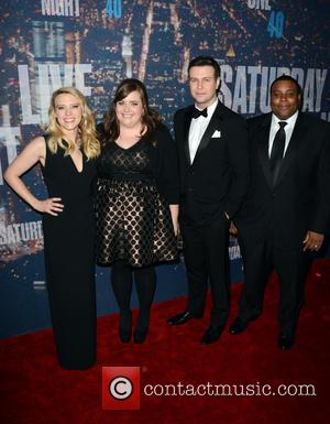 Kate McKinnon, Taran Killam and Keenan Thompson - A host of stars including previous cast members were snapped as they...