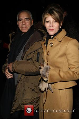 Guest and Robbie Myers - Marc by Marc Jacobs Fall/Winter 2015 held at Pier 36 - New York, New York,...