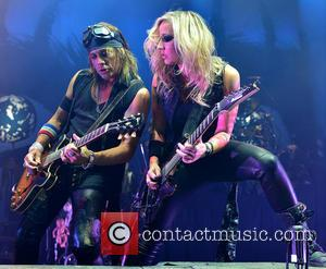 Ryan Roxie and Nita Strauss - Shots of rock legend Alice Cooper as he performed live on stage at Hard...
