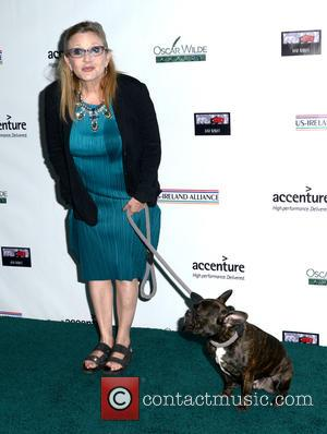 Carrie Fisher and Gary - US-Ireland Alliance pre Oscar event honoring Stephen Colbert, Carrie Fisher and Colin Davidson held at...