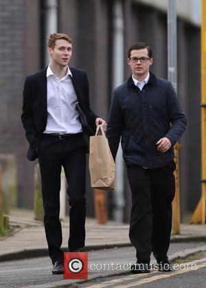 Jamie Borthwick and Harry Reid - Jamie Northwick and Harry Reid seen grabbing some lunch on a break from filming...