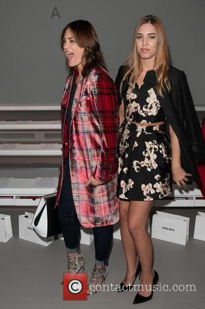 Yasmin Le Bon and Amber Le Bon - London Fashion Week Autumn/Winter 2015 - Bora Asku - Front Row at...