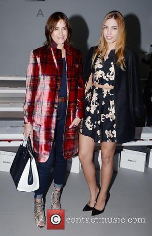 Yasmin LeBon and Amber LeBon - London Fashion Week Autumn/Winter 2015 - Bora Asku - Front Row at London Fashion...