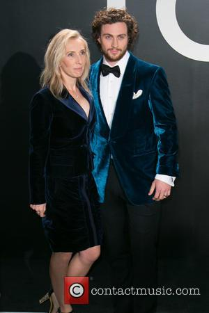 Sam Taylor-Johnson and Aaron Taylor-Johnson - Celebrities attend Tom Ford Autumn/Winter 2015 Womenswear Collection Presentation - Red Carpet at Milk...