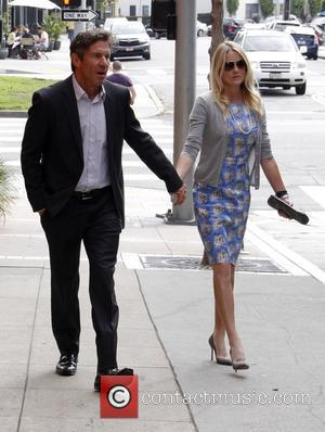 Dennis Quaid and Kimberly Quaid - Dennis Quaid and his wife Kimberly hold hands as they leave Toscana restaurant in...