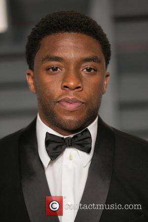 Chadwick Boseman - Celebrities attend 2015 Vanity Fair Oscar Party at Wallis Annenberg Center for the Performing Arts with City...
