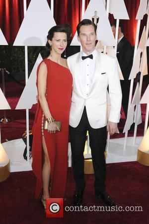 Benedict Cumberbatch and Sophie Hunter - The 87th Annual Oscars held at Dolby Theatre - Red Carpet Arrivals at Oscars,...
