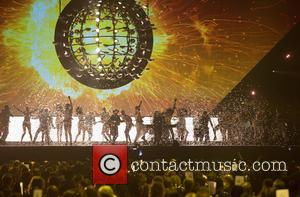 Take That, Mark Owen, Gary Barlow and Howard Donald - Shots of the performances from the Brit Awards 2015 which...