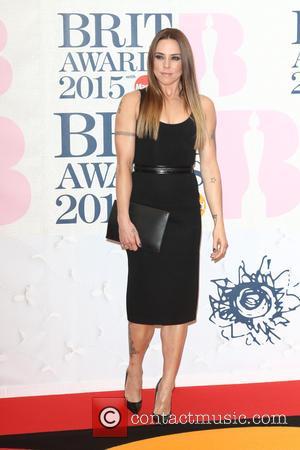 Melanie Chisholm - The Brit Awards 2015 at the O2 Arena - Arrivals at O2 Arena, The Brit Awards -...
