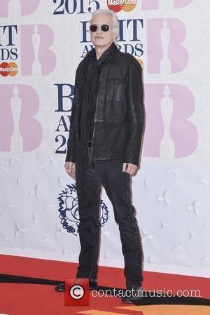 Jimmy Page - A variety of stars from the music industry were photographed as they arrived at the Brit Awards...