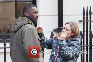 Shots of British actor Idris Elba as he films scenes for the BBC drama series 'Luther' The star is hotly...
