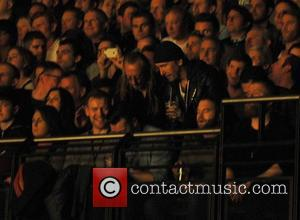 Edge - Shots of the British band Noel Gallagher's High Flying Birds as they gave a live performance on stage...