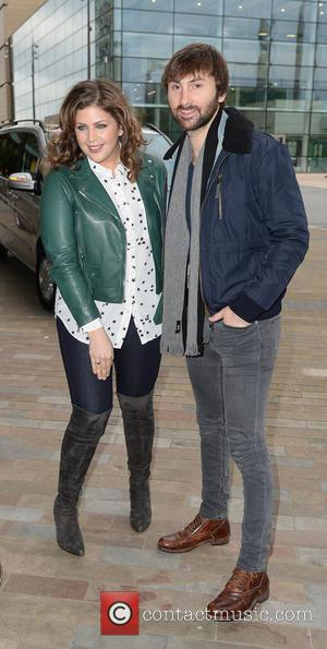 Hillary Scott and Dave Haywood - Lady Antebellum arrive at the BBC Breakfast studios at MediaCityUK ahead of an appearance...