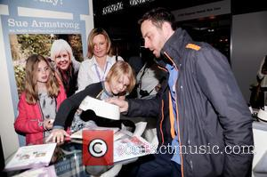 Ulrika Jonsson and Brian Monet - Crufts Day Four Arrivals at National Exhibition Centre - Birmingham, United Kingdom - Saturday...