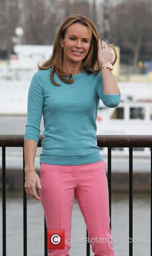 Amanda Holden - Amanda Holden filming for This Morning Show on the Southbank - London, United Kingdom - Monday 9th...