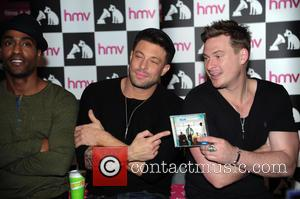 Blue, Simon Webbe, Duncan James and Lee Ryan - Blue sign copies of their new album 'Colours' at HMV in...