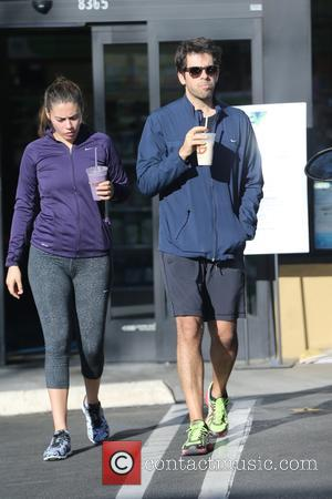 Eli Roth and Lorenza Izzo - Eli Roth and Lorenza Izzo go for a health shake in West Hollywood -...