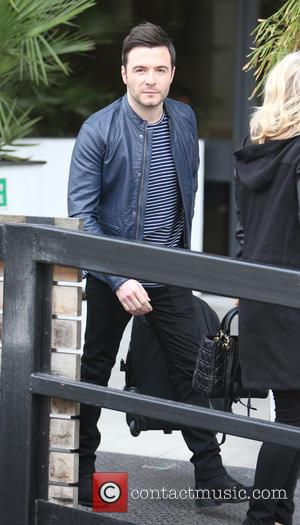 Shane Filan - Shane Filan and his wife Gillian Walsh Filan outside the ITV Studios - London, United Kingdom -...
