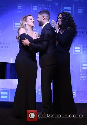 Jussie Smollett and Mariah Carey