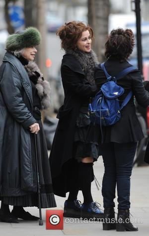 helena bonham carter and Ruby Wax - helena bonham carter and Ruby Wax seen out and about in notting hill...