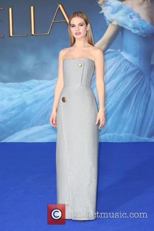 Lily James - Shots of a host of stars as they arrived and took to the red carpet for the...