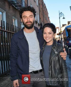 Aidan Turner & fiancee Sarah Greene - Poldark star Aidan Turner & fiancee Sarah Greene attend a panel discussion on...