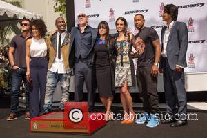 Luke Evans, Guest, Tyrese Gibson, Vin Diesel, Michelle Rodriguez, Jordana Brewster, Ludacris and Sung Kang