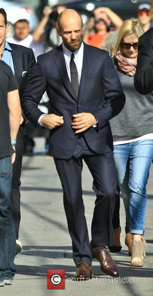 Jason Statham - Jason Statham arrives at the ABC studios for an appearance Jimmy Kimmel Live! at Jimmy Kimmel Studio...