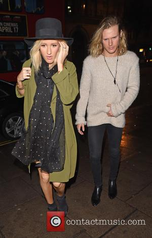 Ellie Goulding and Dougie Poynter - British pop star Ellie Goulding and her partner, bassist of British band McFly, Dougie...