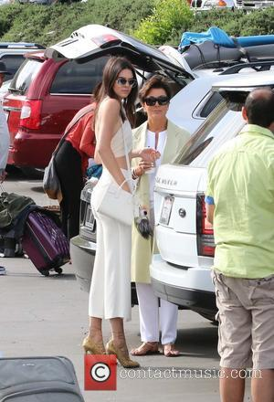 Kendall Jenner and Kris Jenner - Shots of the extended Kardashian-Jenner family as they all attended church on Easter Sunday...