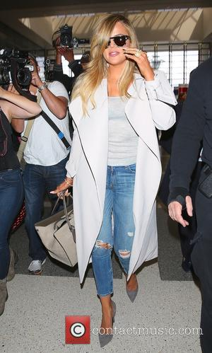 Shots of one of the stars of 'Keeping up with the Kardashians' Khloe Kardashian as she leaves Los Angeles International...