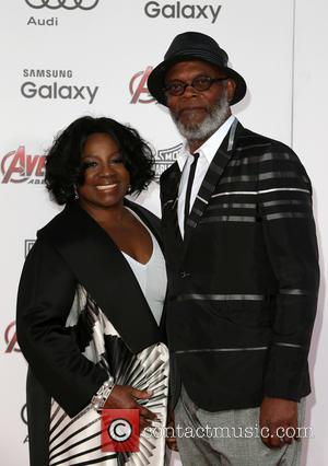Samuel L. Jackson and LaTanya Richardson - Shots of a host of stars as they attended the premiere of Marvel's...