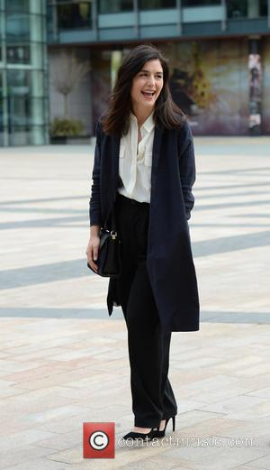 English singer songwriter Jessie Ware was photographed as she arrived at the BBC Breakfast Studios in Media City, Manchester, United...