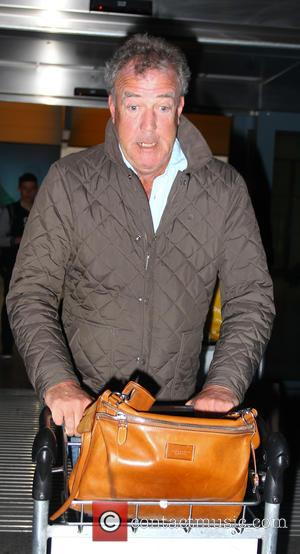 Jeremy Clarkson - Jeremy Clarkson arriving at London Heathrow Airport with girlfriend Phillipa Sage after a flight from Istanbul at...