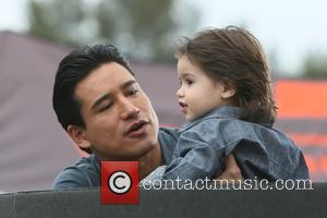 Mario Lopez and Dominic Lopez - Melissa Joan Hart promotes her new boys clothing line,