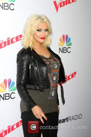 Christina Aguilera - Shots of the coaches from the TV talent show 'The Voice' a they attended the Top 8...