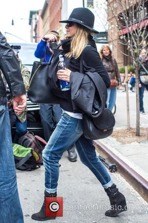 American actress Jennifer Aniston who rose to fame as Rachel Green in the hit US TV show 'Friends' was spotted...