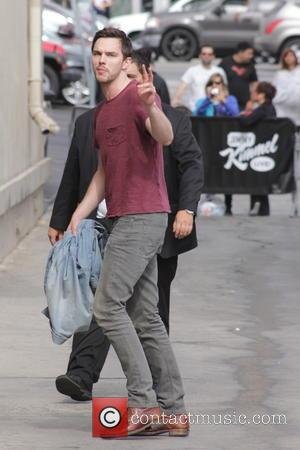 Nicholas Hoult - Nicholas Hoult arrives for and interview on  Jimmy Kimmel Live! - Los Angeles, California, United States...