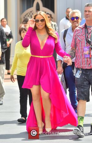 American pop super star Mariah Carey was snapped as she arrived to take part in a live taping of the...