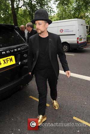 Boy George - Ivor Novello Awards Pap Arrivals at The Grosvenor Hotel on Park Lane - London, United Kingdom -...